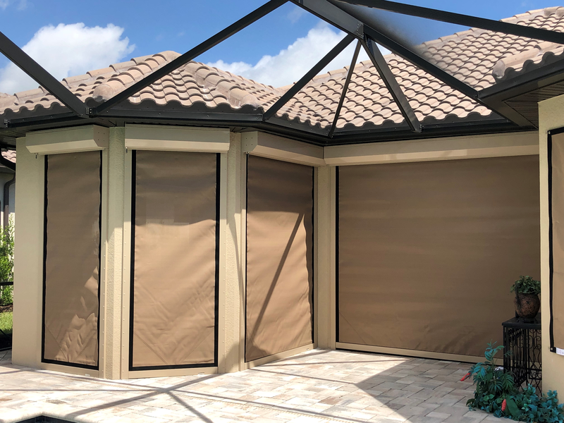 Motorized Lanai Screens Storm Protection
