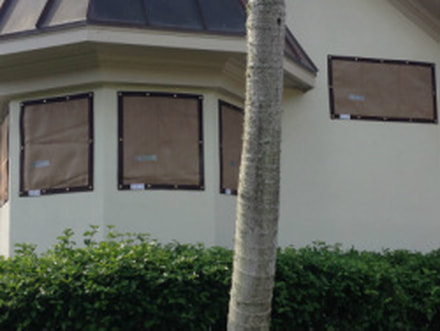Hurricane Screen Fabric Storm Protection